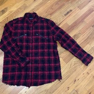INC by Macy's Men's XL Raw Unfinished Flannel